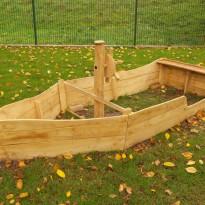 Holzschiff - Spielplatzhersteller Naturholz Kästner