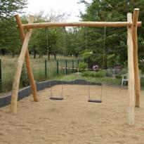 Doppelschaukel für Spielplatz - Spielplatzhersteller Naturholz Kästner