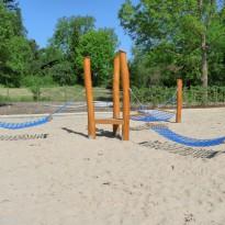 Spielplatz Kindergarten: Hängematte, Netzschaukel - Spielplatzhersteller Naturholz Kästner