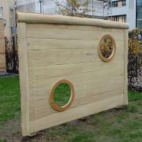 Fussball: Torwand aus Holz - Spielplatzhersteller Naturholz Kästner
