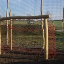 Fussballtor mit Netz aus Holz - Spielplatzhersteller Naturholz Kästner