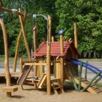 Sandspielplatz, Spielanlage für Kleinkinder Sandbaustelle, Spielanlage zum Klettern - Spielplatzhersteller Naturholz Kästner