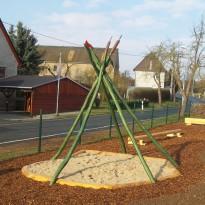 Sandkasten, Spielanlage für Kleinkinder Sandbaustelle, Sandspielplatz, Spielanlage zum Klettern - Spielplatzhersteller Naturholz Kästner