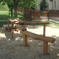Spielplatz: Spielanlage mit Sand und Wasser - Spielplatzhersteller Naturholz Kästner