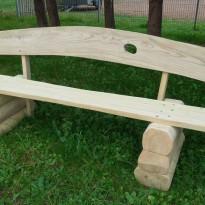 Herstellung Sitzbank aus Massivholz - Spielplatzhersteller Naturholz Kästner
