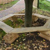 Herstellung Baumbank aus Holz - Spielplatzhersteller Naturholz Kästner