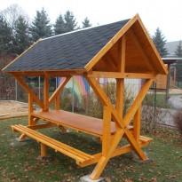 Schutzhütte aus Holz Herstellung - Spielplatzhersteller Naturholz Kästner