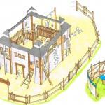 Projektplanung für Abenteuerspielplatz Spielburg - Spielplatzhersteller Naturholz Kästner